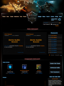 Play Dota website